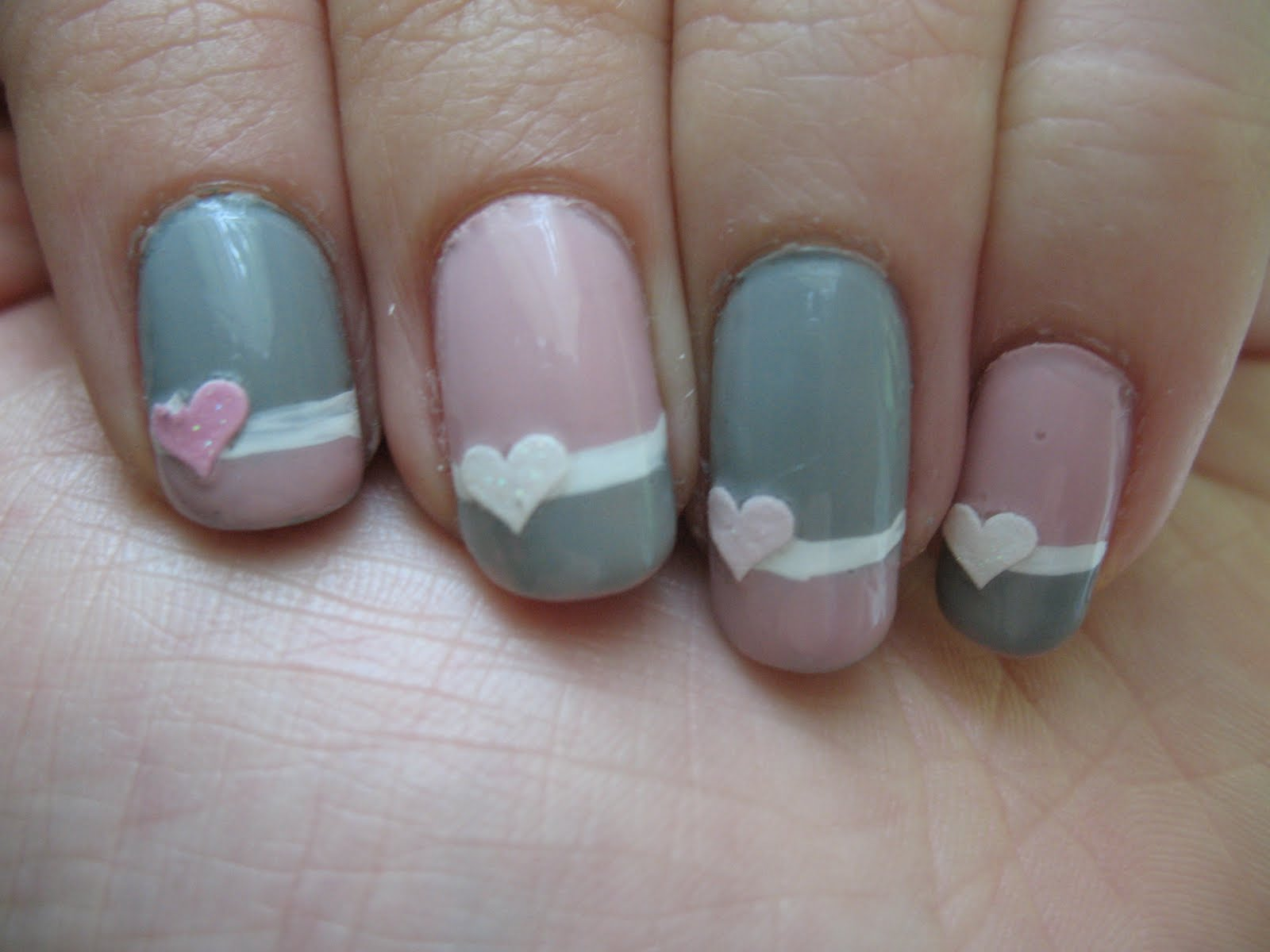 Pink and grey nail designs gallery nail art and nail design ideas alternating pink and grey tips prinsesfo gallery prinsesfo Image collections