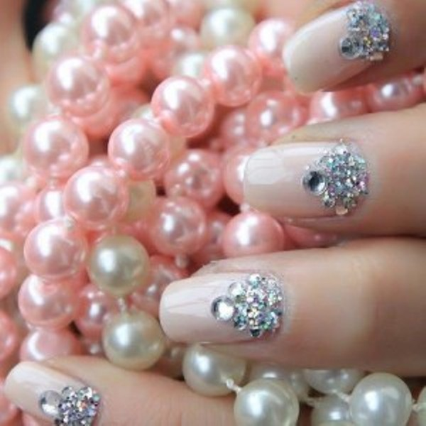 Wedding Half Moon Jewels Manicure