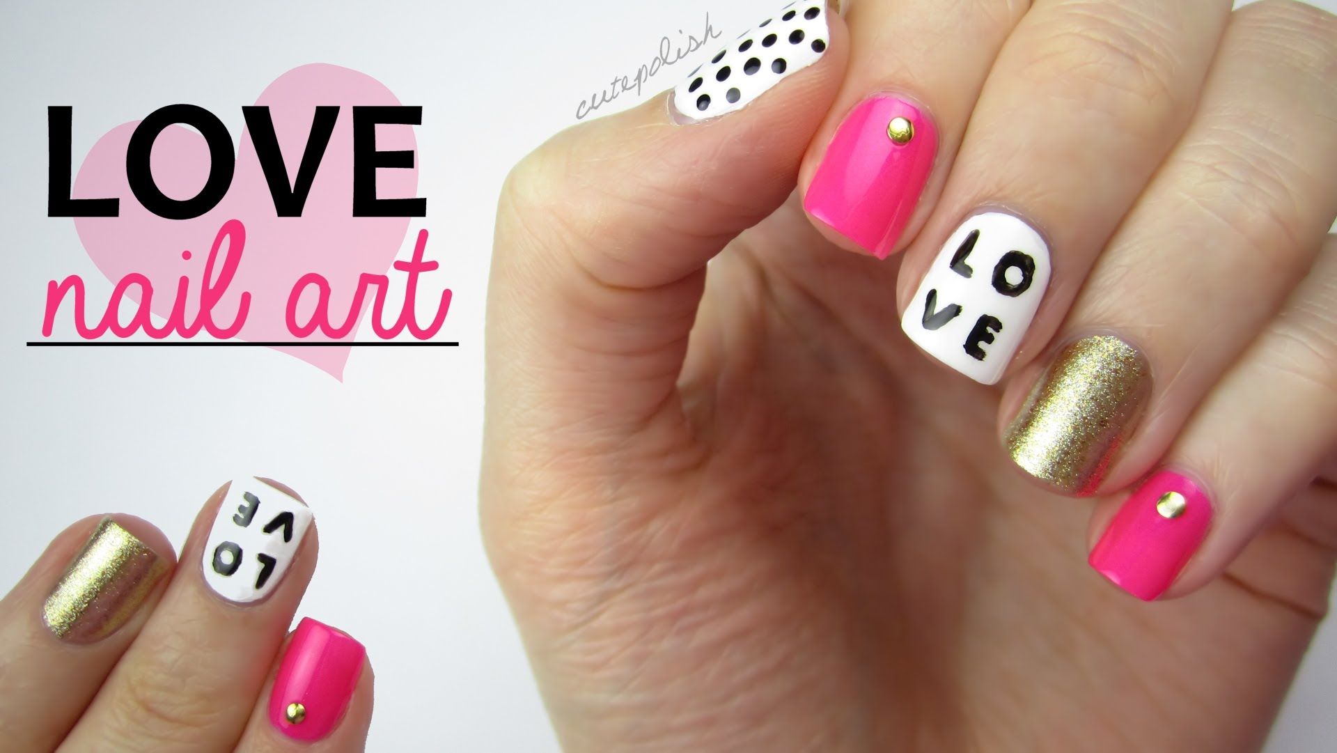 Easy Valentine\'s Day Mix-N-Match Nails