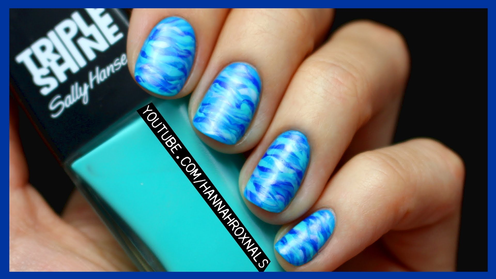 Bring The Ocean To You With This Easy And Beautiful Ocean Nail Art