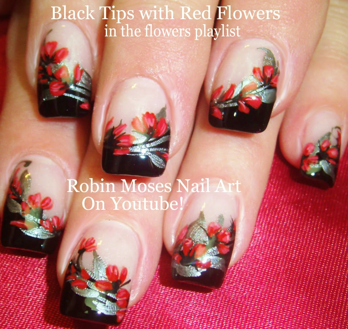 Show off your nail art skills with this gorgeous gothic floral show off your nail art skills with this gorgeous gothic floral nail design prinsesfo Gallery