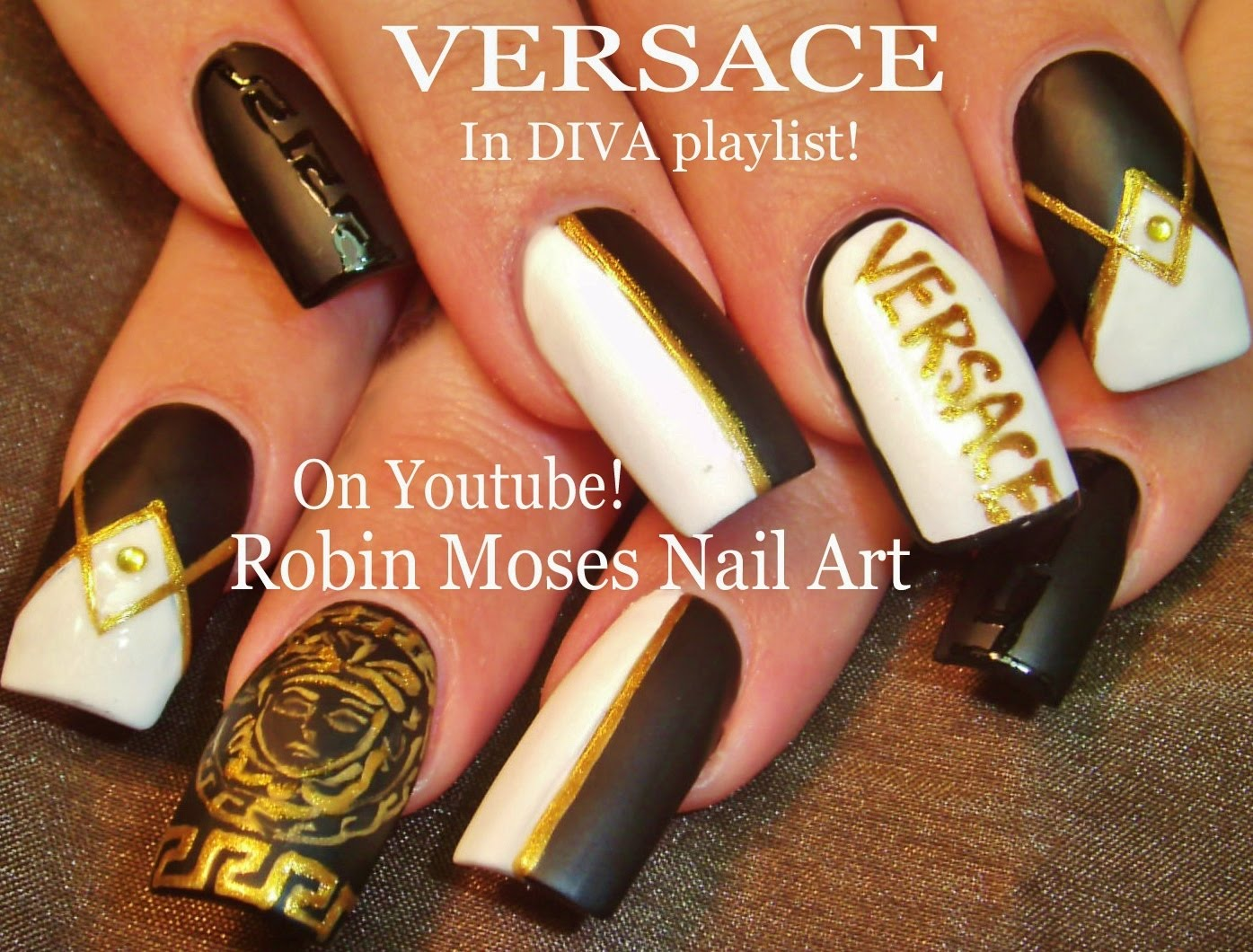 Try Out These Versace Diva Nails Perfect For Any Fashionista