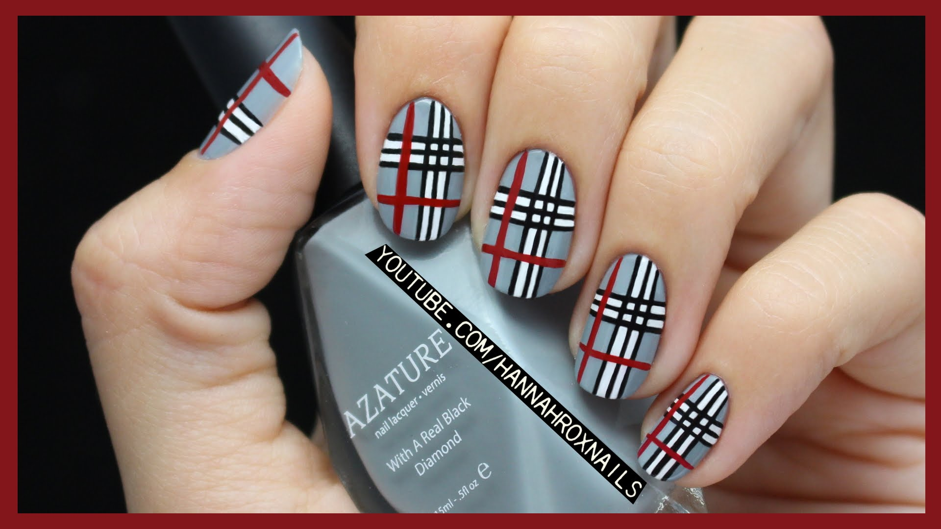 Give This Awesome Plaid Nail Art Featured In Girls Life Magazine A Try!