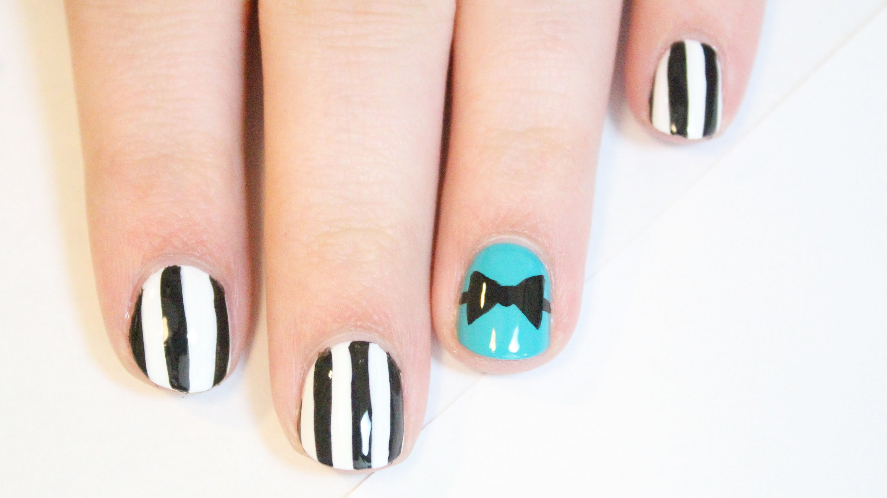 Bow Tie Nail Designs Gallery Easy Nail Designs For Beginners Step