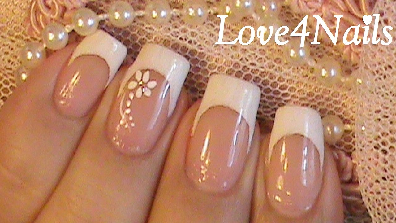 This Classic White French Manicure Is Perfect For Long Nails!