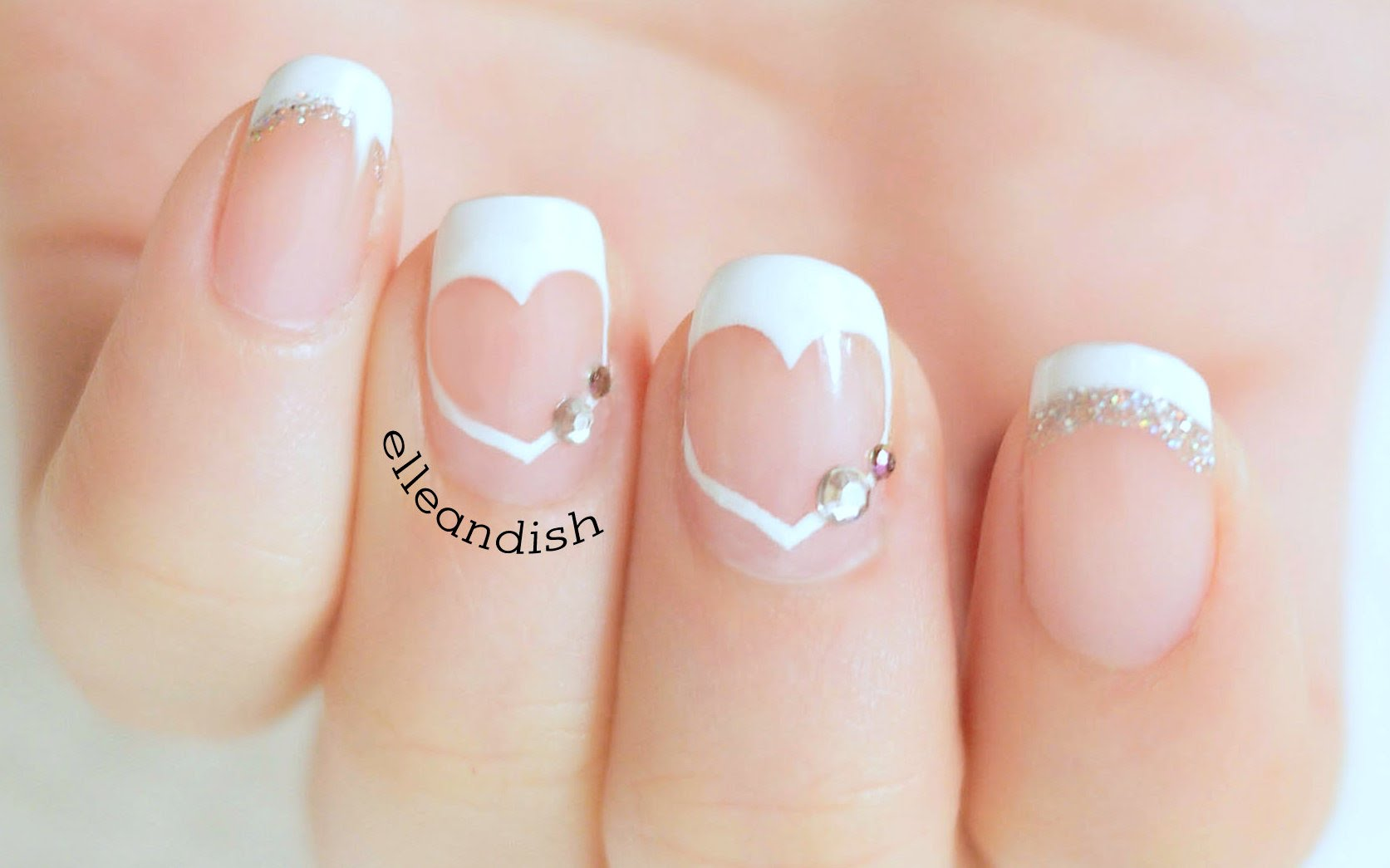 This Easy Heart French Tip Nail Design Is Perfect For Your Special Day!