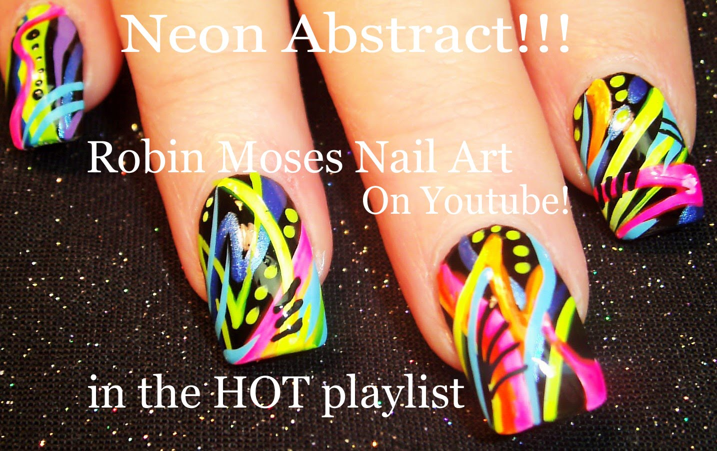 Learn How To Create This Awesome 80\'s Old School Striped Nail Design