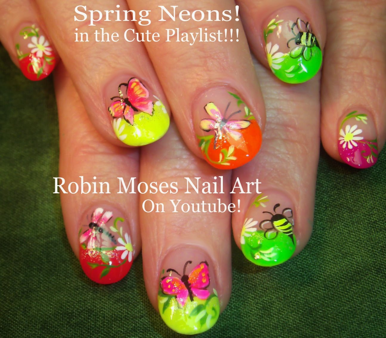 This Awesome Neon Nail Design IS A Great Way To Test Your Nail Art ...