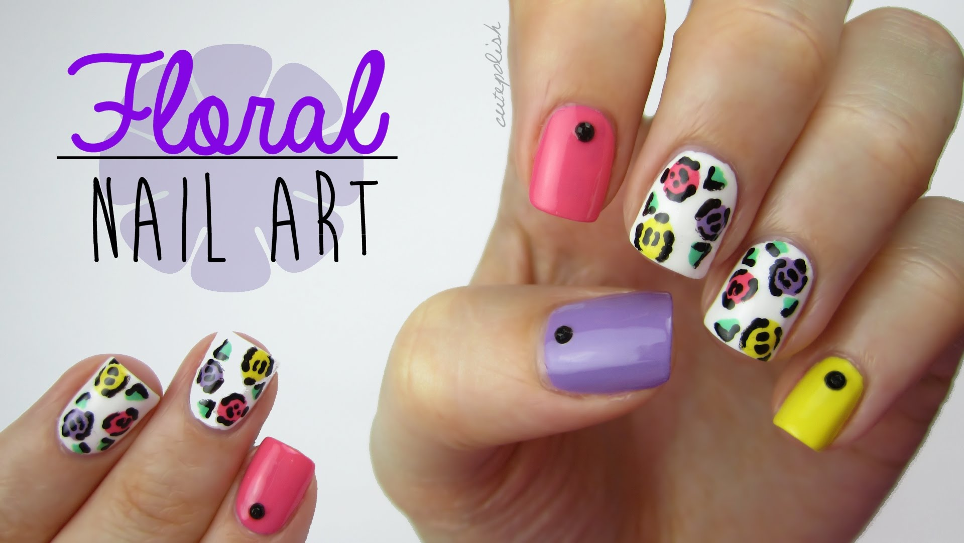 This Awesome Pop Art Floral Design Is Easy To Do And Only Requires A Toothpick