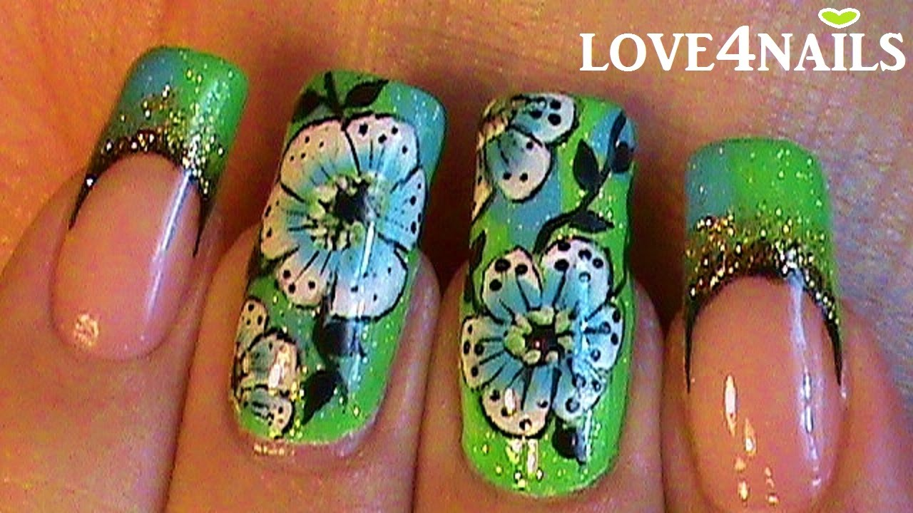 Try Out This Gorgeous Nail Design Inspired By J Lo S Green Grammy Dress