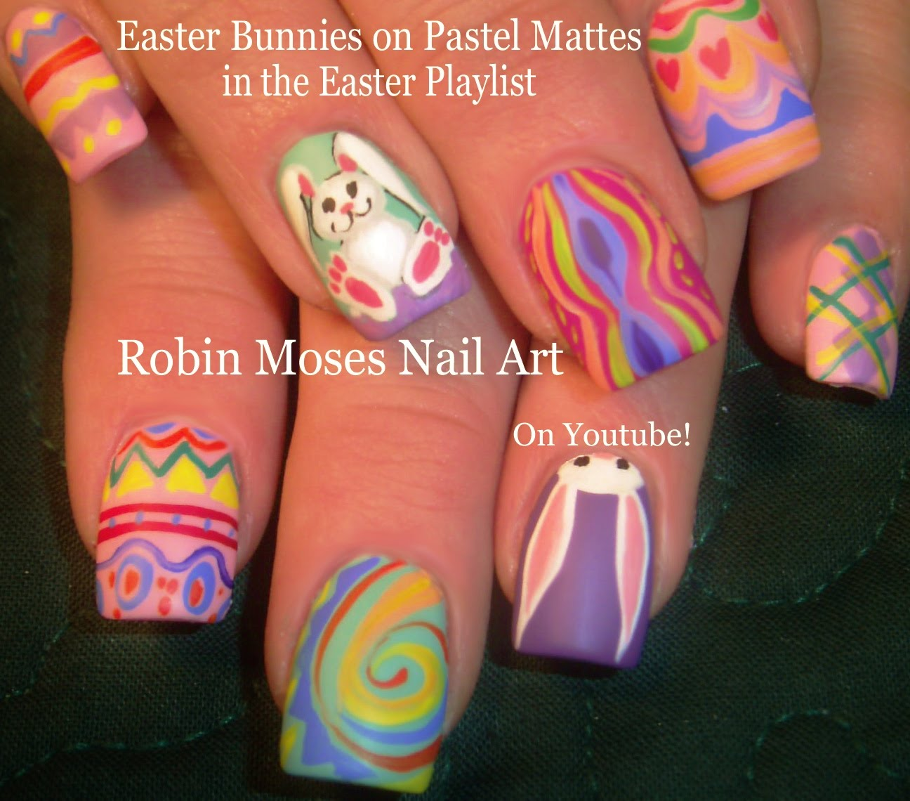 Try Out This Amazing Intricate Pastel Easter Nail Art Design