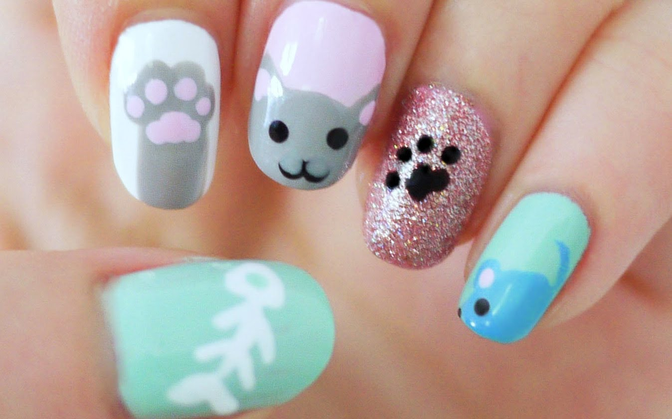 - This Adorable Kitty Cat Nail Art Is A Fun And Simple Nail Art Design!