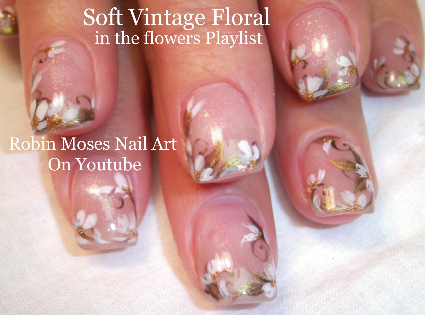 This Easy Floral Design Is A Beautiful Nail Design For Prom