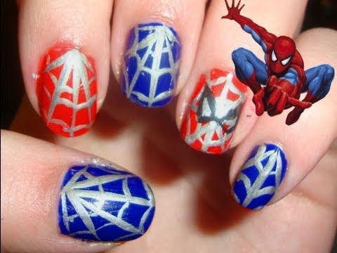 This Spider-man Nail Art