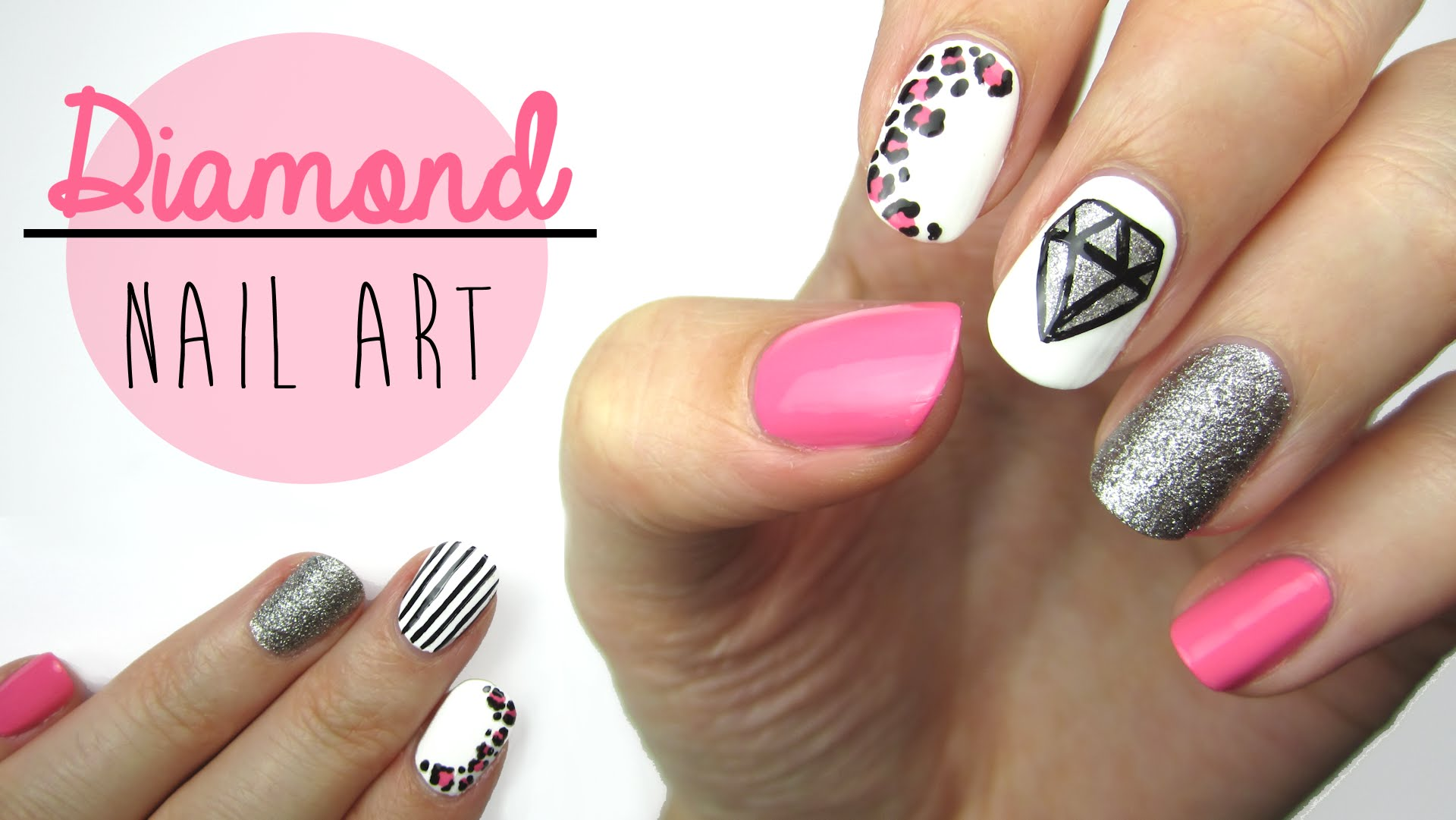 Dorable Diamond Nails Design Motif - Nail Art Ideas - morihati.com