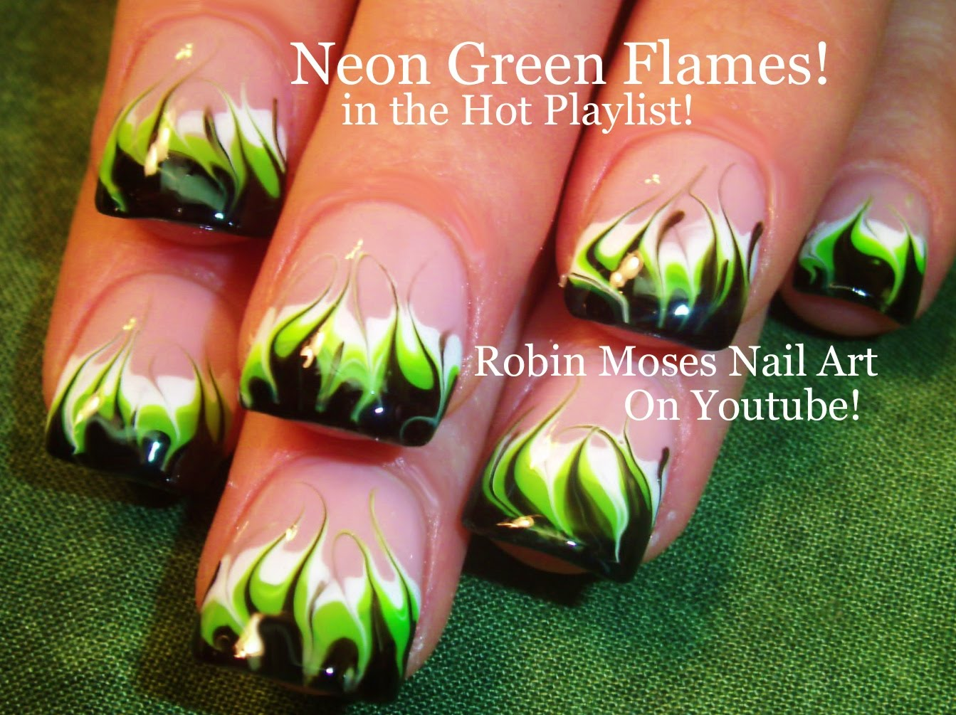 Try Out these Awesome Marble Flame Nails That Require No Water!