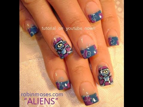 Feel Out Of This World With This Awesome Alien Nail Art Design