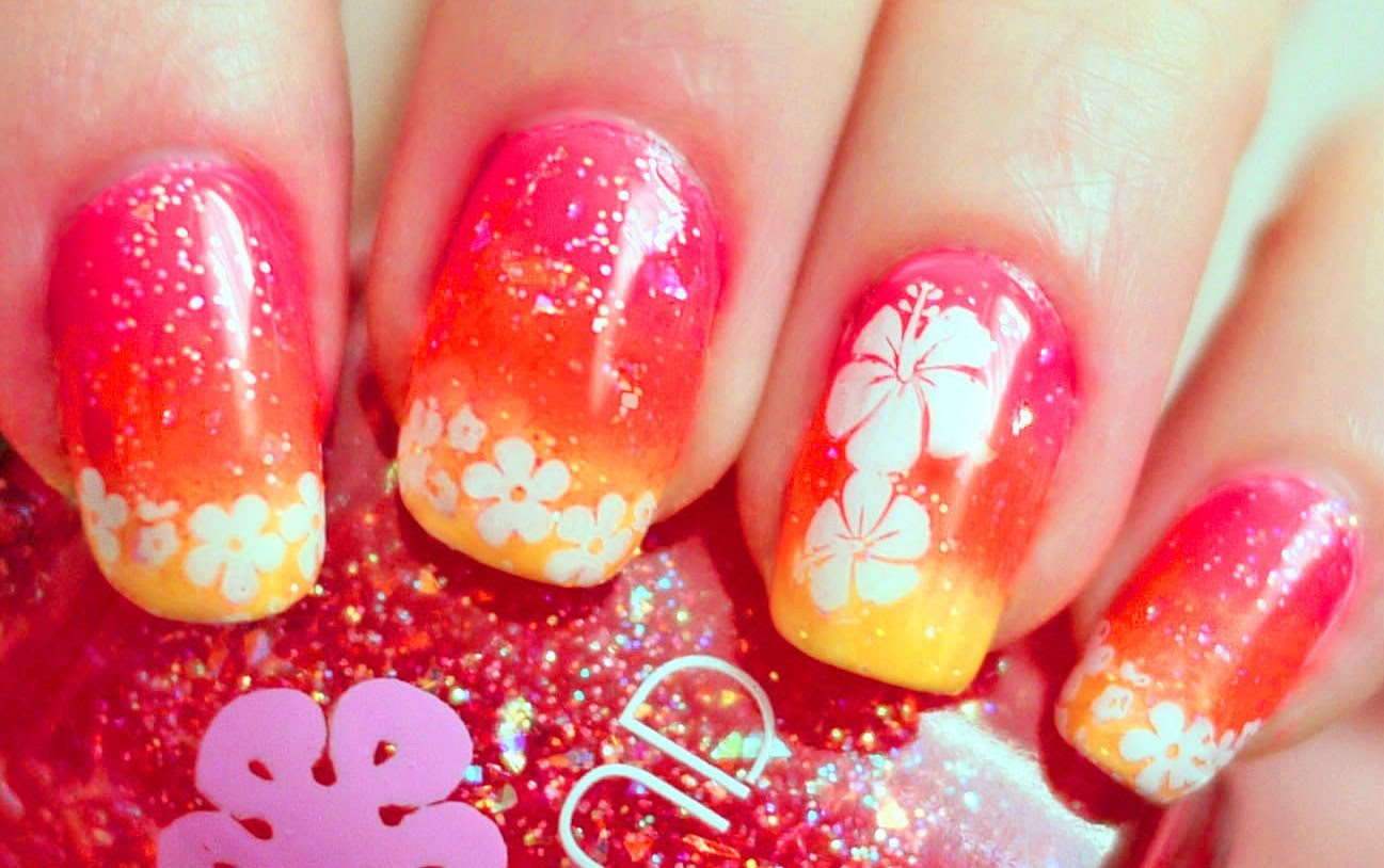 - Try Out This Vibrant Hawaiian Punch Nail Art!