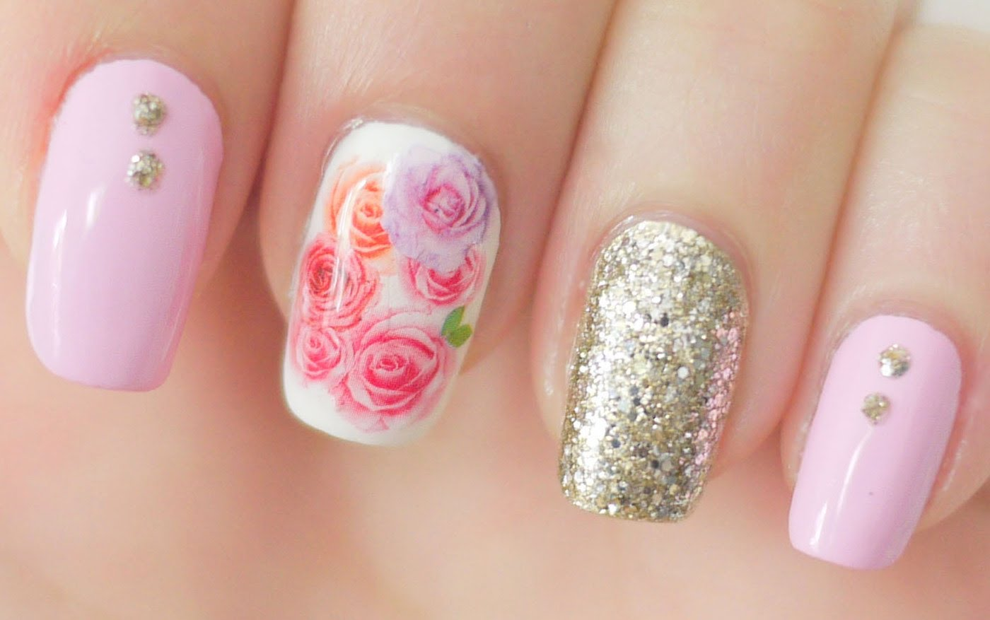 These Beautiful Rose Nail Water Decals Are An Easy Alternative To Painting Your Fl Design