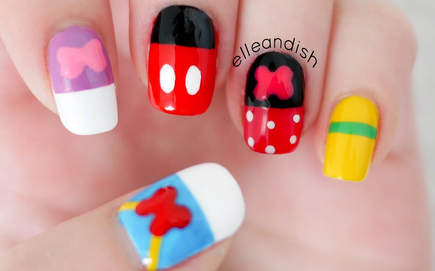 This Walt Disney Friends Inspired Nail Design Is Perfect For Your