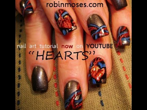 Practice Your Skills With This Strange Human Heart Nail Art Design