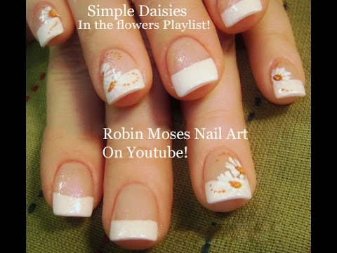 Look Adorable With This White Daisy Nails For Beginners