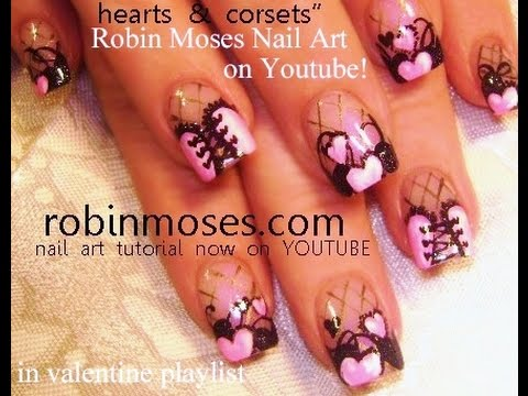 Show Off Your Sultry Side With This Lovely Pink Corset Nail Art