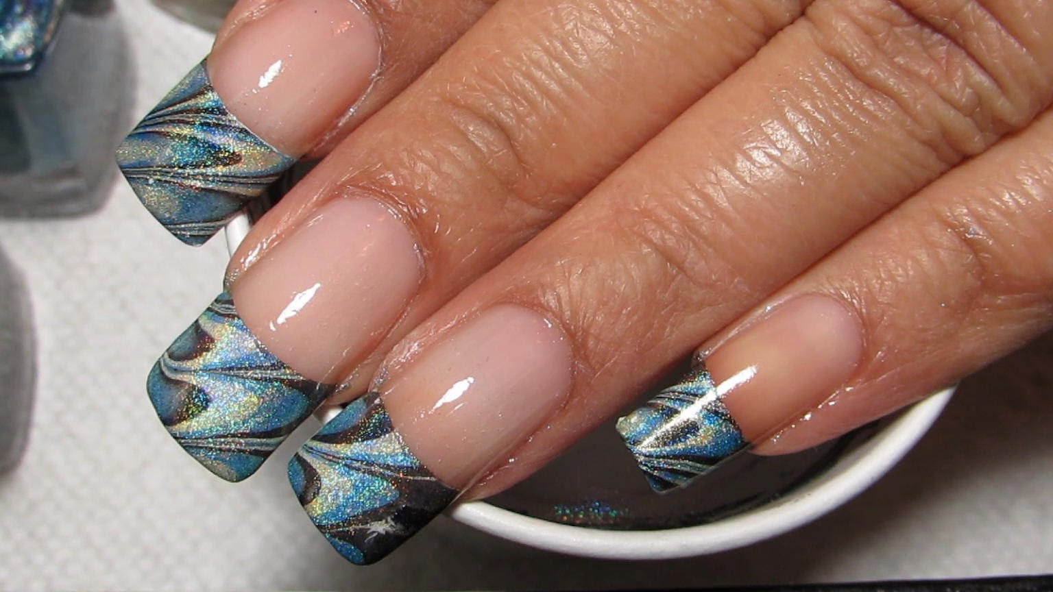 Test Your water Marble Skills With This Awesome French Tip ...