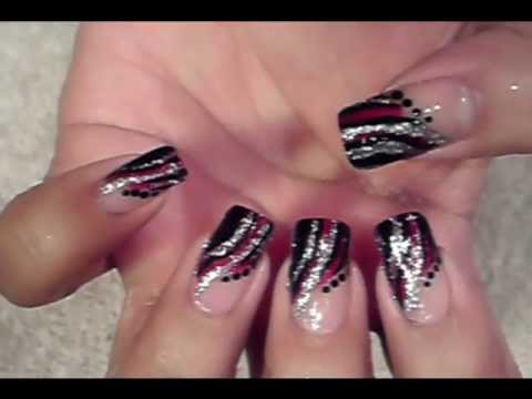 Try Out This Super Easy And Quick Striped Nail Art Design