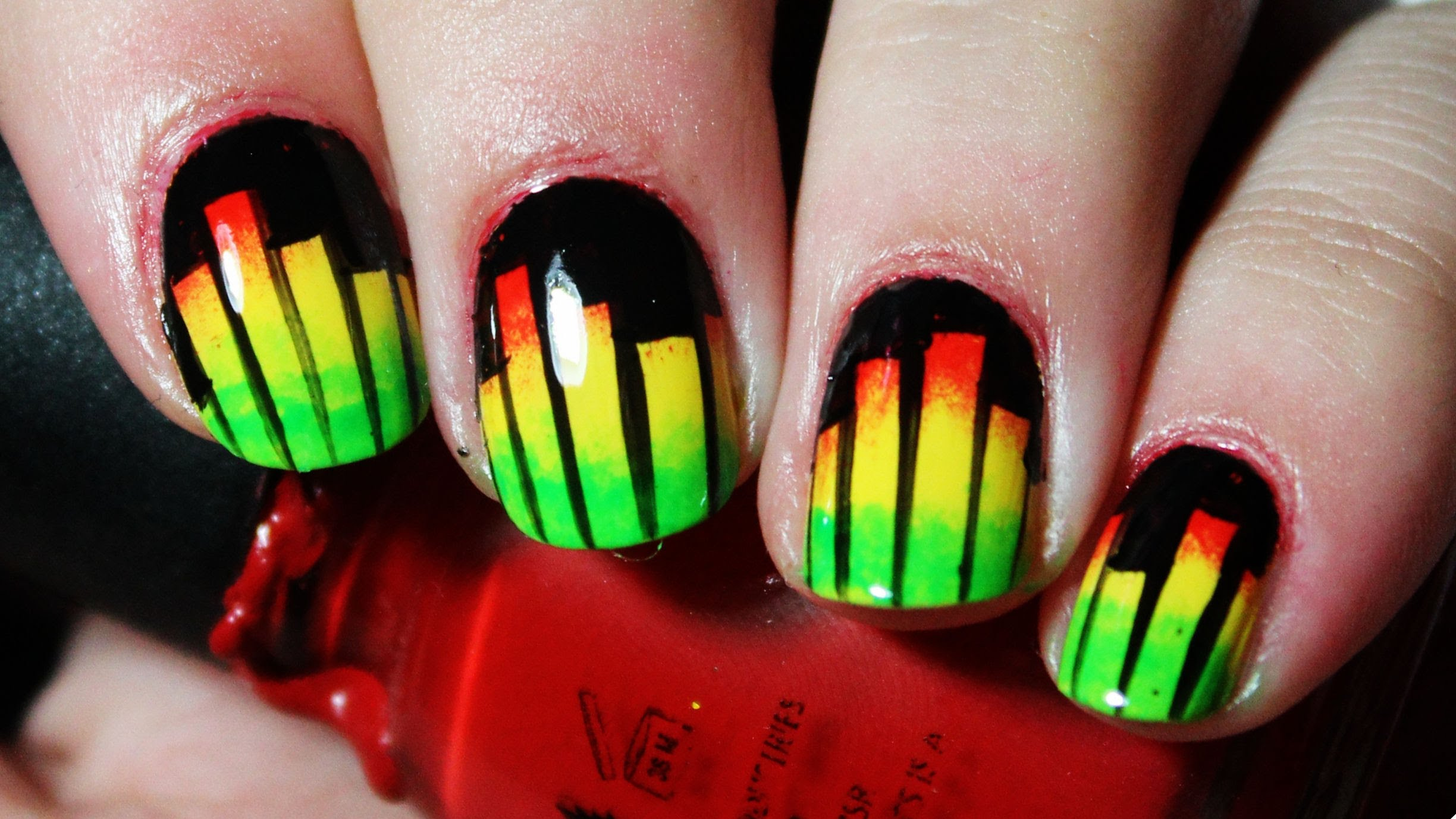 Have Fun Creating This Easy To Do Music Equalizer Nail Art!