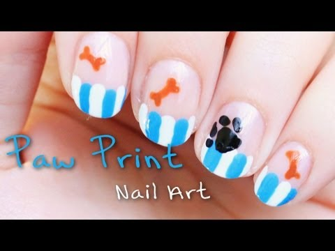 Learn How To Create This Adorable Dog Paw Nail Art And Help Stop