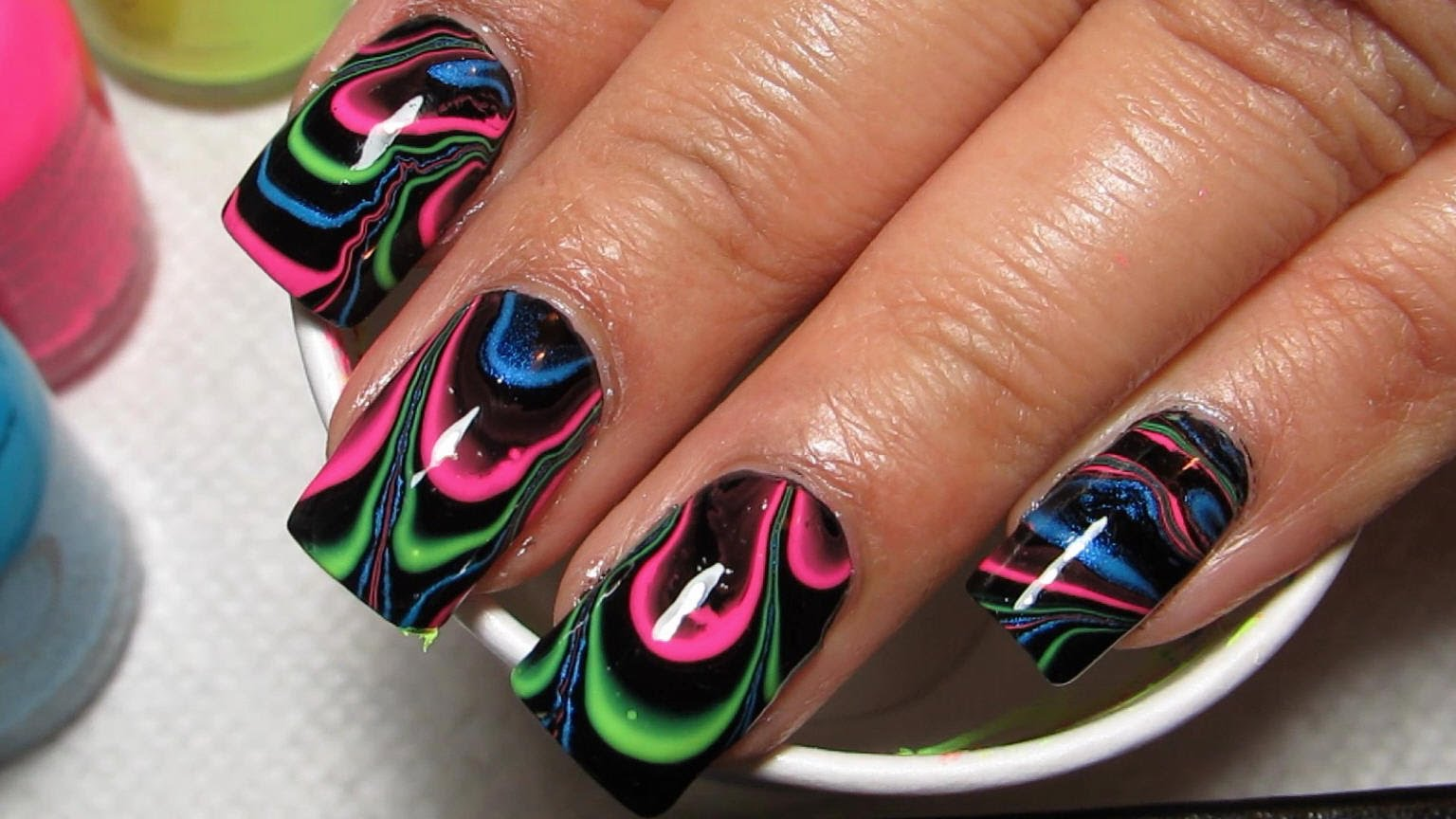 Crackle Nail Polish Water Marble Hession Hairdressing