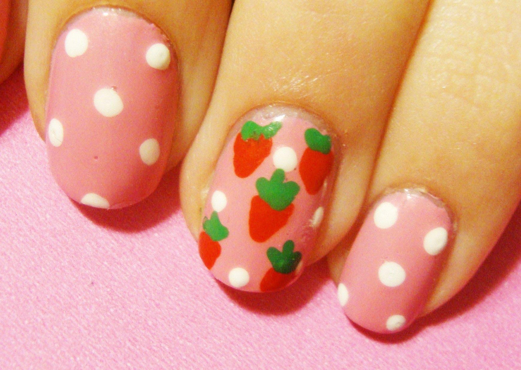 Recreate This Simply Gorgeous Versatile Strawberry Shortcake Inspired Nail Art