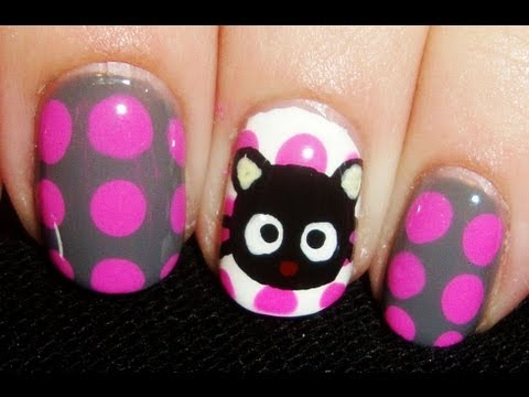 Create This Absolutely Adorable Chococat Nail Art Design!