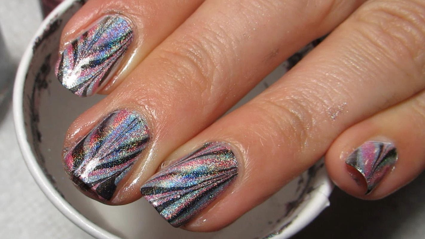 Look Absolutely Amazing With This Color Club Chevron Water Marble ...
