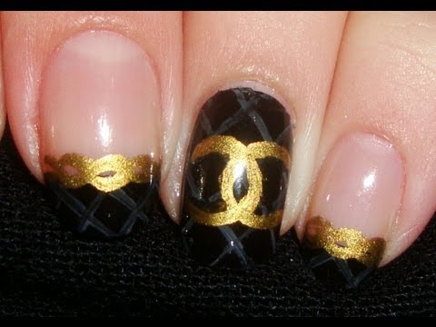 Look Like a true Fashionista With This Chanel Inspired Nail Art!